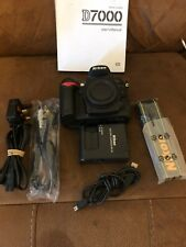 Nikon D7000 DSLR Camera Body Only With accessories Low Shutter Count Free P&P