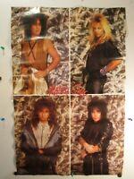 "Vintage Original 1987 Motley Crue wall poster 33"" x 22"" Funky Enterprises"