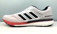 $130 adidas Adizero Boston 7 Running Shoes White Black Red B37381 Men Size 10