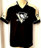 PITTSBURGH PENGUINS Jersey Size Adult Small Majestic Baseball Style Embroidered