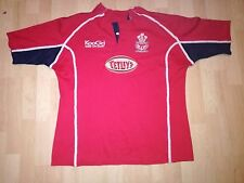 Llanelli Scarlets Gales Rugby Camiseta/Jersey Match Worn/Maillot-Look!!!