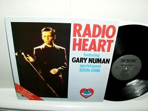 Radio Heart - Featuring Gary Numan LP UK Import Near Mint New Wave Elton John