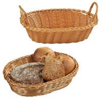 Kesper Brotkorb Obstkorb Frühstückskorb Henkel Körbchen Kunststoffgeflecht Oval