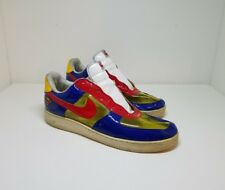 Nike Air Force 1 Superman Red Blue Yellow See Through Rare Men Transparent SZ 13