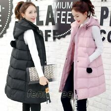 NEW Womens Hooded Down Cotton Puffer Jackets Vest Coat Outwear Waistcoat Plus Sz