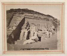 Egypte Abou Simbel Photographie Félix Bonfils Vintage Albumine 7,7x9,5 cm c1870
