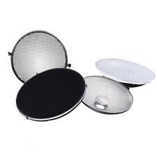 Photo Studio Flash Beauty Dish 42cm S type Honeycomb + White Diffuser T8