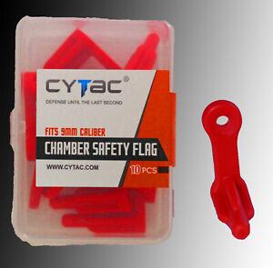 Pistol Chamber Safety Flag Gun Range Safety Chamber Flag for any 9mm