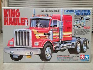 "New Unbuilt Tamiya 1/14 ""Metallic Chrome Edition"" King Hauler Semi R/C Truck"