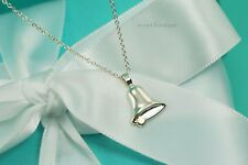 "AUTHENTIC Tiffany & Co. RARE Sterling Silver 18K Gold Bell Necklace 16"" #1098"