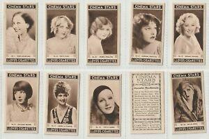 Richard Lloyd 1937 Set 25 Cinema Stars- Matt:  Sepia Portraits of Actresses(F68)