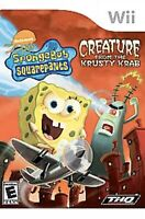 SpongeBob SquarePants Nintendo Wii Kids Game Creature from the Krusty Krab U