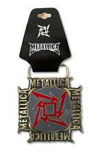 Metallica! Red Star/Gold Logo Metal Belt Buckle New