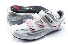 NEW Sidi Nevada Road Cycling Shoes Size 47EU 12US White/Silver TT Triathlon Bike