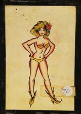 giclee print bob shaw vintage 50s tattoo flash pinup pike long beach grimm 9x12
