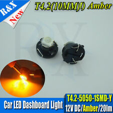 2 X Amber T4.2 Neo Wedge  SMD LED Twist Lock LCD Dash Cluster Switch Gauge VT VX