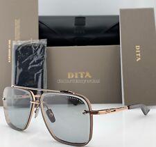 DITA MACH SIX SUNGLASSES DTS121-02 Rose Gold Light Gray Lens 62mm Brand New