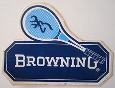 Autocollant / sticker Browning. - Tennis, raquette.