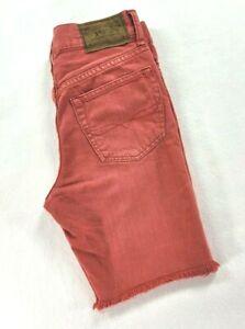 Boys Polo Ralph Lauren Jean Denim Shorts Size 10-12 Medium Red waist 24in