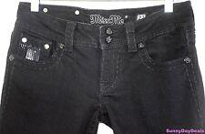 Miss Me Jeans Cotton Boot Cut Rhinestones Studs JE5146BL Sequins Denim Black 27