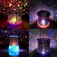 Romatic Cosmos Sky Star Projector Master LED Starry Night Light Lamps Baby Gifts