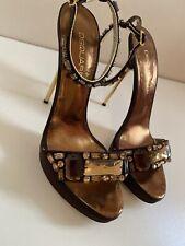 Dsquared2 High Heels Sandalen Schuhe 39 38,5 Pumps NEUW LUXUS LEDER Satin Steine
