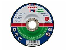 Faithfull - Cut Off Disc for Stone Depressed Centre 125 x 3.2 x 22mm