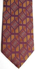 "Bachrach Men's Silk Tie 60.5"" X 3.75"" Multi-Color Geometric"