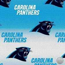 Blue Carolina Panthers NFL Cotton Fabric 6867 D