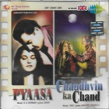 PYAASA / CHAUDHVIN KA CHAND - 2 IN ONE FILM CD BOLLYWOOD SONGS - FREE UK POST