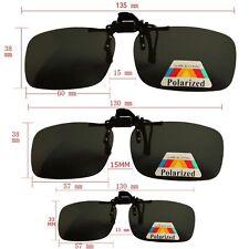 Size L Unisex Sunglasses Clip On Flip Up Driving Glasses Sun UV 400 Protective