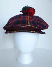 Dunn & Co Great Britain Erracht Cameron Tartan Plaid Newsboy Hat Cap. Scotland