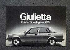 G654 - Advertising Pubblicità - 1978 - GIULIETTA LA MACCHINA DEGLI ANNI '80