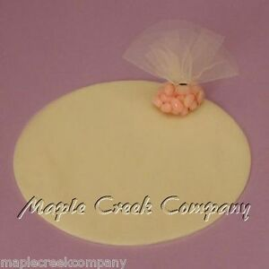 25 Tulle Circles FOR PARTY or WEDDING FAVORS Choose from 12 Colors
