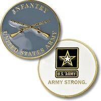 New Infantry enameled Bronze Medal US Army Strong challenge coin gift