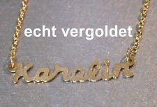 Nobles Collier Karolin Botte à Tige Courte pour Vrai Plaqué or Nom avec Neuf