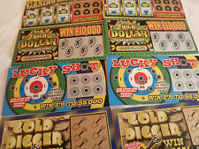 8 PHONY FAKE ALL WINNING WINNER SCRATCH OFF SCRATCHER LOTTERY TICKETS JOKE PRANK