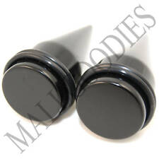 "0618 Black Stretchers Tapers Expenders 1"" Inch 25mm"