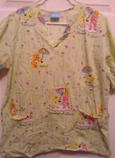 "Care Bears Scrub Top Size M ""Showered With Love"""