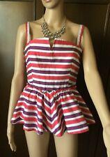 Max Mara Top Woman, fuchsia color, size 44, cotton, lined  Top Donna, taglia 44