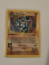 Machamp 1st Edition Shadowless Holo Rare 8/102 HP sleeve + TL