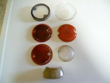 Model A Ford Truck Tail Light Lenses and Clear Lens 1928 - 1931, tag lens