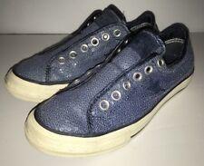 4d3f9326c11072 CONVERSE ONE STAR Blue Sequin Shoes Slip On Shoe Women s Size 6 ...