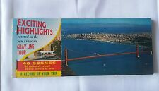 1960's Exciting Highlights on The San Francisco Gray Line Tour Postcards Booklet