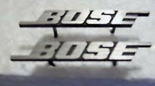 "TWO BOSE SPEAKER GRILLE EMBLEMS 1.5"" long 3/16"" tall 5/16"" pins CHROME SILVER"