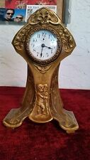 Art Nouveau Clock, Putti's, New Haven Clock Co., Working Professionally Serviced