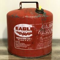 Vintage Eagle 5 Gallon GALVANIZED Metal Gas Gasoline Can USA