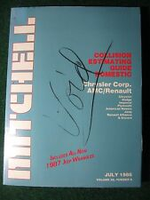 1986 July Mitchell Collision Estimating Guide Manual Chrysler Jeep Dodge Plym ++