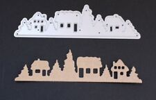 Row of Houses ~ Winter~ Christmas Metal Cutting Die Cardmaking Scrapbooking