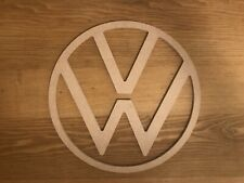 NEW Style 2019 VW Logo Camper Badge Wooden Sign 6mm MDF 325mm CNC T25 T4 T5 T6